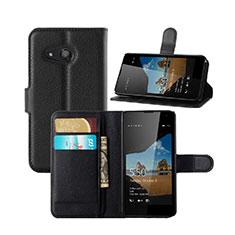 Coque Portefeuille Livre Cuir pour Microsoft Lumia 550 Noir
