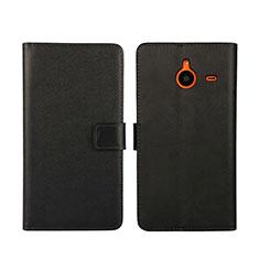 Coque Portefeuille Livre Cuir pour Microsoft Lumia 640 XL Lte Noir
