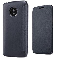 Coque Portefeuille Livre Cuir pour Motorola Moto G5 Noir