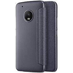 Coque Portefeuille Livre Cuir pour Motorola Moto G5 Plus Noir