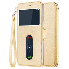 Coque Portefeuille Livre Cuir pour OnePlus 5 Or