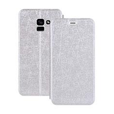 Coque Portefeuille Livre Cuir pour Samsung Galaxy A5 (2018) A530F Blanc