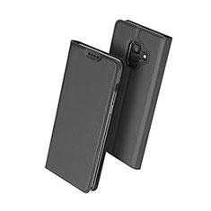 Coque Portefeuille Livre Cuir pour Samsung Galaxy A6 (2018) Dual SIM Noir