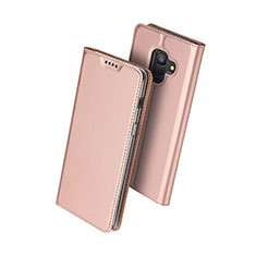 Coque Portefeuille Livre Cuir pour Samsung Galaxy A6 (2018) Dual SIM Or Rose