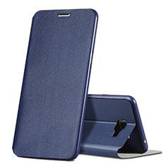 Coque Portefeuille Livre Cuir pour Samsung Galaxy C5 SM-C5000 Bleu