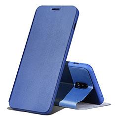 Coque Portefeuille Livre Cuir pour Samsung Galaxy C8 C710F Bleu