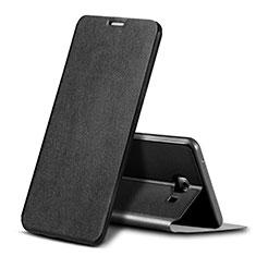 Coque Portefeuille Livre Cuir pour Samsung Galaxy C9 Pro C9000 Noir