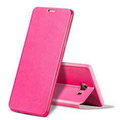 Coque Portefeuille Livre Cuir pour Samsung Galaxy C9 Pro C9000 Rose Rouge