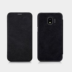 Coque Portefeuille Livre Cuir pour Samsung Galaxy J2 Pro (2018) J250F Noir