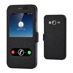 Coque Portefeuille Livre Cuir pour Samsung Galaxy J3 (2016) J320F J3109 Noir