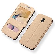 Coque Portefeuille Livre Cuir pour Samsung Galaxy J5 (2017) SM-J750F Or