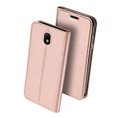 Coque Portefeuille Livre Cuir pour Samsung Galaxy J5 (2017) SM-J750F Rose