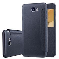 Coque Portefeuille Livre Cuir pour Samsung Galaxy J5 Prime G570F Noir