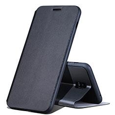 Coque Portefeuille Livre Cuir pour Samsung Galaxy J7 Plus Noir