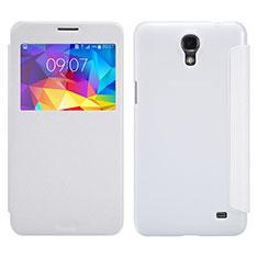 Coque Portefeuille Livre Cuir pour Samsung Galaxy Mega 2 G7508Q Blanc