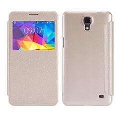 Coque Portefeuille Livre Cuir pour Samsung Galaxy Mega 2 G7508Q Or