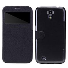 Coque Portefeuille Livre Cuir pour Samsung Galaxy Mega 6.3 i9200 i9205 Noir