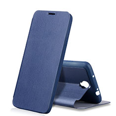 Coque Portefeuille Livre Cuir pour Samsung Galaxy Note 3 Neo N7505 Lite Duos N7502 Bleu