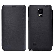 Coque Portefeuille Livre Cuir pour Samsung Galaxy Note 4 SM-N910F Noir