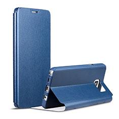 Coque Portefeuille Livre Cuir pour Samsung Galaxy Note 5 N9200 N920 N920F Bleu