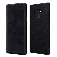 Coque Portefeuille Livre Cuir pour Samsung Galaxy Note 9 Noir