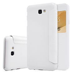 Coque Portefeuille Livre Cuir pour Samsung Galaxy On5 (2016) G570 G570F Blanc