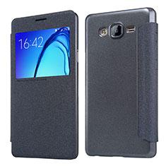 Coque Portefeuille Livre Cuir pour Samsung Galaxy On5 G550FY Noir