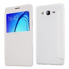 Coque Portefeuille Livre Cuir pour Samsung Galaxy On5 Pro Blanc