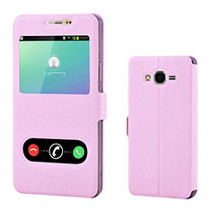 Coque Portefeuille Livre Cuir pour Samsung Galaxy On7 G600FY Rose