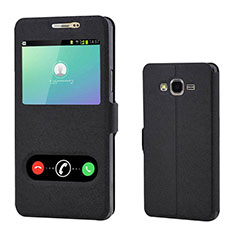 Coque Portefeuille Livre Cuir pour Samsung Galaxy On7 Pro Noir