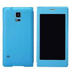 Coque Portefeuille Livre Cuir pour Samsung Galaxy S5 G900F G903F Bleu Ciel