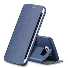 Coque Portefeuille Livre Cuir pour Samsung Galaxy S6 Edge SM-G925 Bleu
