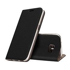 Coque Portefeuille Livre Cuir pour Samsung Galaxy S7 G930F G930FD Noir