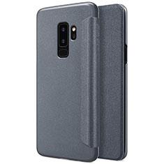 Coque Portefeuille Livre Cuir pour Samsung Galaxy S9 Plus Noir