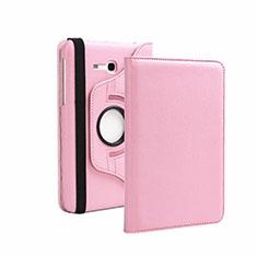 Coque Portefeuille Livre Cuir pour Samsung Galaxy Tab 3 Lite 7.0 T110 T113 Rose