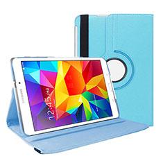 Coque Portefeuille Livre Cuir pour Samsung Galaxy Tab 4 7.0 SM-T230 T231 T235 Bleu Ciel