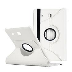 Coque Portefeuille Livre Cuir pour Samsung Galaxy Tab E 9.6 T560 T561 Blanc
