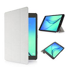 Coque Portefeuille Livre Cuir pour Samsung Galaxy Tab S2 8.0 SM-T710 SM-T715 Blanc