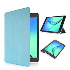 Coque Portefeuille Livre Cuir pour Samsung Galaxy Tab S2 8.0 SM-T710 SM-T715 Bleu Ciel