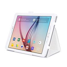 Coque Portefeuille Livre Cuir pour Samsung Galaxy Tab S2 9.7 SM-T810 SM-T815 Blanc