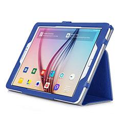 Coque Portefeuille Livre Cuir pour Samsung Galaxy Tab S2 9.7 SM-T810 SM-T815 Bleu
