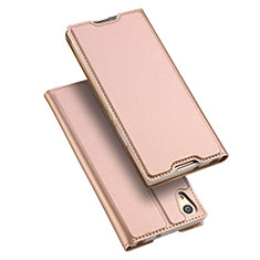 Coque Portefeuille Livre Cuir pour Sony Xperia L1 Rose