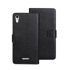 Coque Portefeuille Livre Cuir pour Sony Xperia T3 Noir