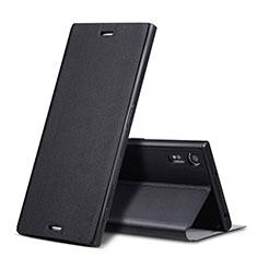 Coque Portefeuille Livre Cuir pour Sony Xperia XZ Noir