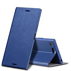 Coque Portefeuille Livre Cuir pour Sony Xperia XZ Premium Bleu