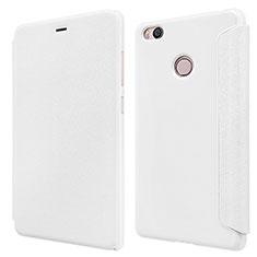 Coque Portefeuille Livre Cuir pour Xiaomi Mi 4S Blanc
