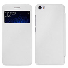 Coque Portefeuille Livre Cuir pour Xiaomi Mi 5 Blanc