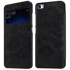 Coque Portefeuille Livre Cuir pour Xiaomi Mi 5 Noir