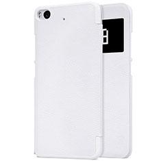 Coque Portefeuille Livre Cuir pour Xiaomi Mi 5S 4G Blanc