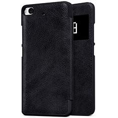 Coque Portefeuille Livre Cuir pour Xiaomi Mi 5S Noir